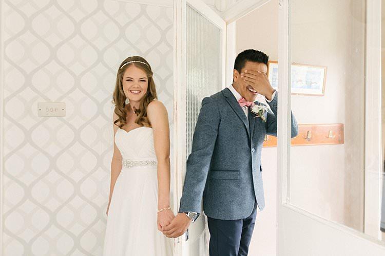 Sweetheart Dress Gown Bride Bridal Crystal Sparkly Belt Headpiece Hairpiece Ted Baker Zara Groom Wool Jacket Chinos Pink Bow Tie Crafty Pretty Pastel Budget Wedding http://lilysawyer.com/