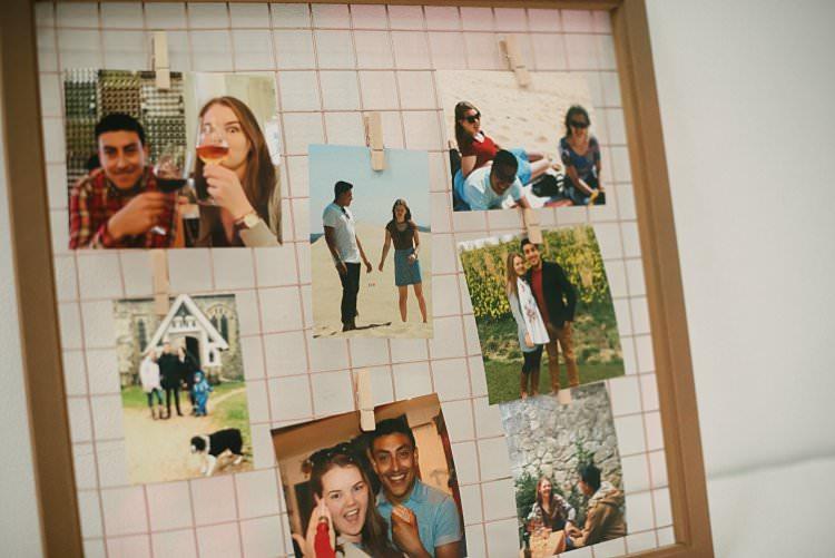 Photo Peg Board Copper Wire Mesh Peg Crafty Pretty Pastel Budget Wedding http://lilysawyer.com/