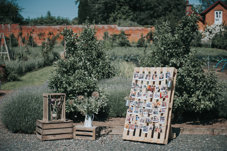 Pallet Sign Decor Crates Photos Flowers Herbs Flowers Home Made Walled Garden Wedding https://www.rosiekelly.co.uk/