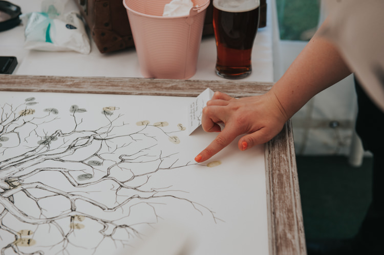 Finger Print Tree Guest Book Herbs Flowers Home Made Walled Garden Wedding https://www.rosiekelly.co.uk/