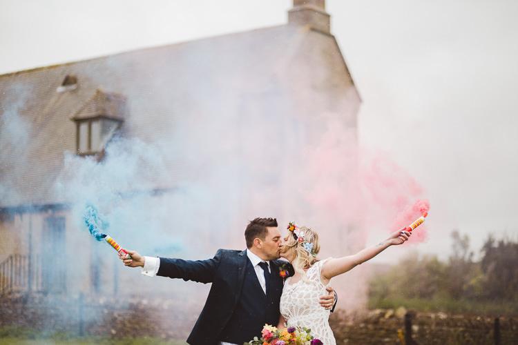 Smoke Bomb Wedding Portraits Images Photographs http://www.nicolacasey.photography/