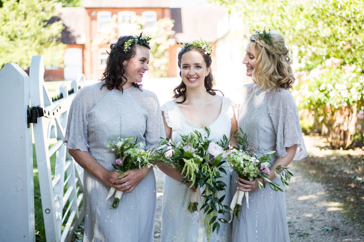 Bride Bridal Trailing Bouquet Greenery Foliage Bridesmaids ASOS Natural Outdoor Tipi Wedding https://www.ad-photography.co.uk/