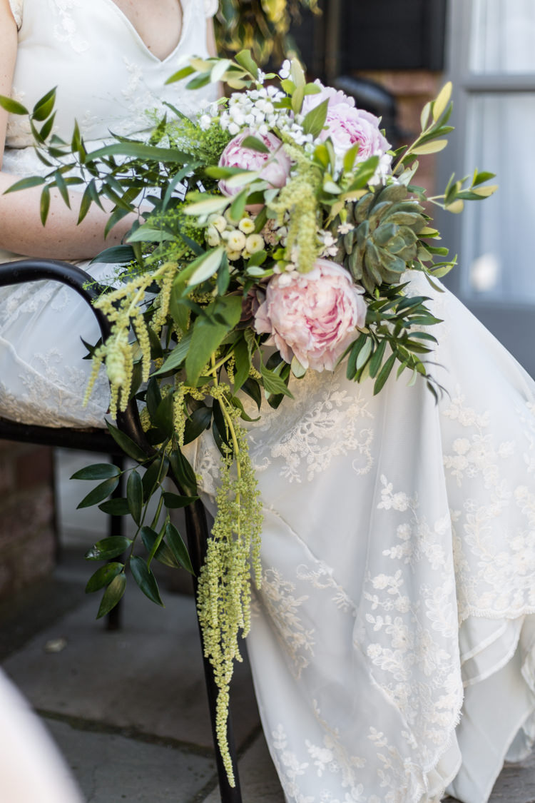Bride Bridal Bouquet Greenery peony Succulents Natural Outdoor Tipi Wedding https://www.ad-photography.co.uk/