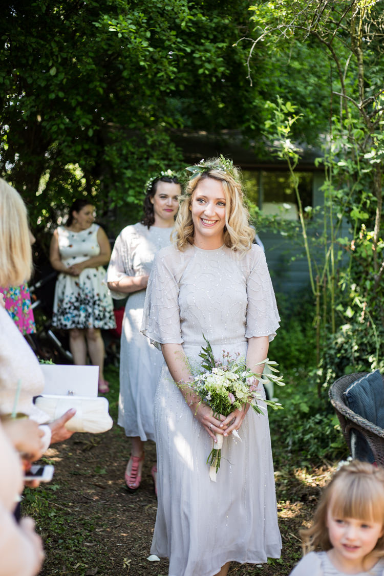 ASOS Bridesmaid Bouquet Foliage Greenery In Hair Embellishment Natural Outdoor Tipi Wedding https://www.ad-photography.co.uk/