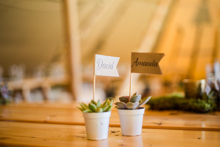 Favours Potted Succulent Natural Outdoor Tipi Wedding https://www.ad-photography.co.uk/