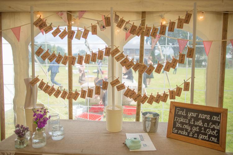 Washing Line Peg Guest Book Name Blackboard Frame Chalk Quirky Rustic Farm Wedding https://ragdollphotography.co.uk/