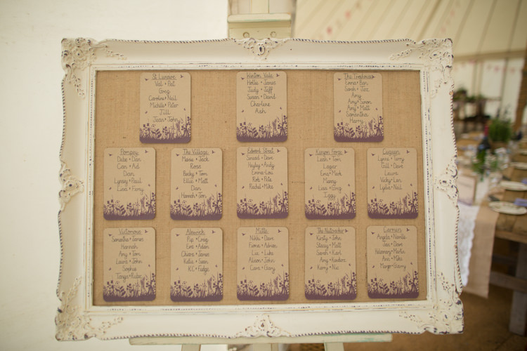 Table Plan Seating Chart White Antique Vintage Frame Quirky Rustic Farm Wedding https://ragdollphotography.co.uk/