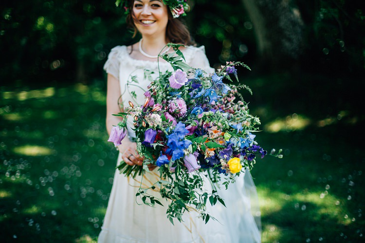 Bride Bridal Bouquet Flowers Large Wild Natural Eco Friendly Floral Filled Wedding http://kellyjphotography.co.uk/