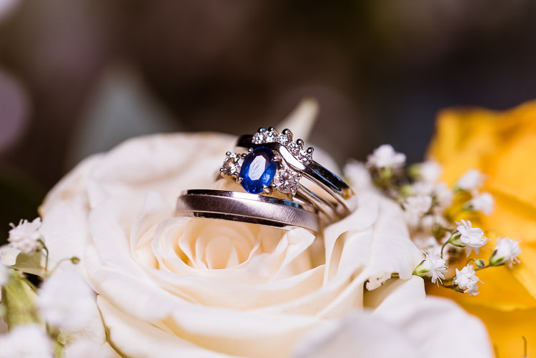 Sapphire Engagement Ring Laid Back Summer Garden Party Wedding Stretch Tent http://joemallenphotography.co.uk/