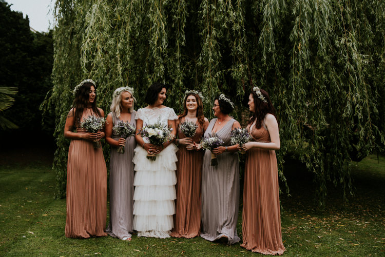 Earthy Long Bridesmaid Dresses Maxi Flower Crowns Unique Personal Natural Wedding Style https://photo.shuttergoclick.com/