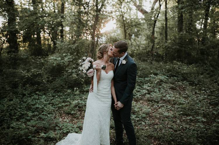 Outdoor Rustic Boho Forest Natural Sweetheart Updo Bride Groom Bouquet Kiss | Organic Earthy Fun Wedding Oklahoma http://zaynewilliams.com/