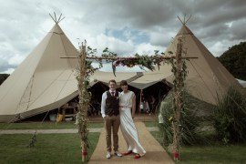 Magical Woodland Clearing Colourful Tipis Wedding https://www.lukebellphotography.co.uk/