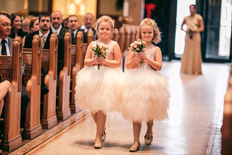 Winter Decor Aisle Flower Girls Bouquets Tulle Tutus | Festive Glamour Christmas New Years Eve Wedding http://www.stevendrayimages.com/