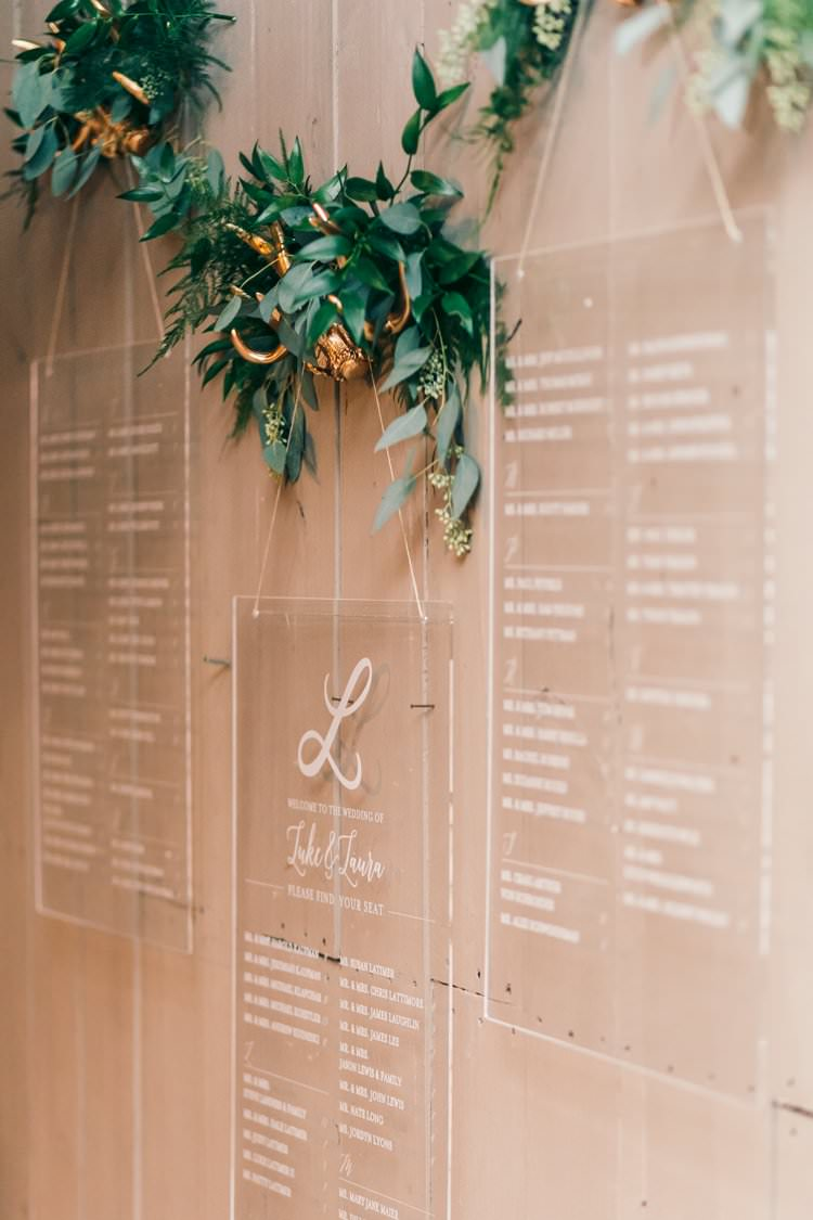 Winter White Perspex Acrylic Table Plan Stationery Gold Antlers | Festive Glamour Christmas New Years Eve Wedding http://www.stevendrayimages.com/