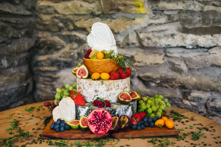 Tiered Cheese Cake Figs Fruit Heart Colourful Floral Family Friendly Wedding http://www.sallytphoto.com/
