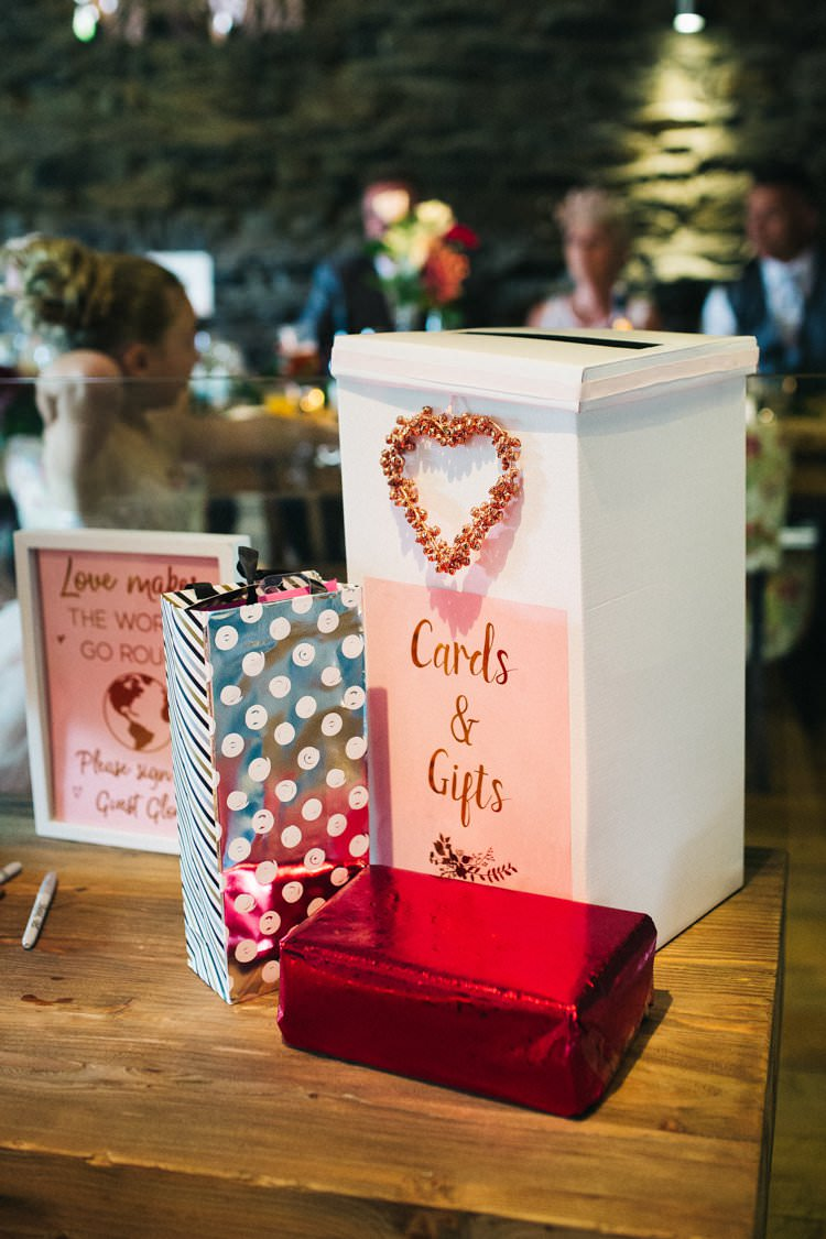 Cards Post Box Guest Book Colourful Floral Family Friendly Wedding http://www.sallytphoto.com/