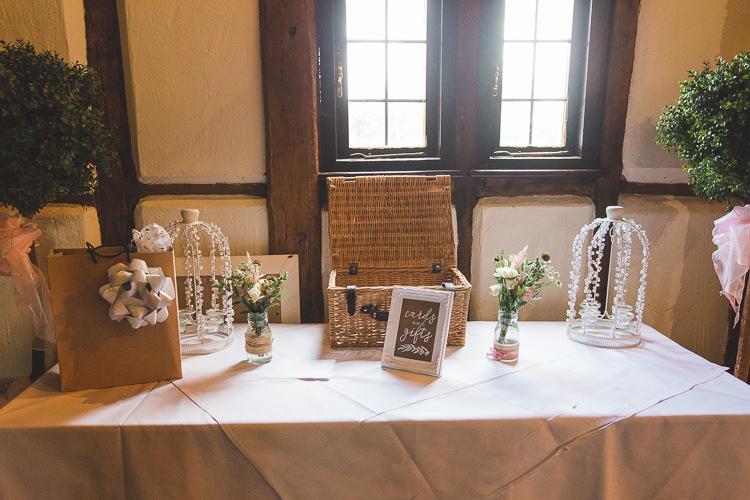 Card Gift Table Birdcage Hamper Modern Calligraphy Sign Whimsical Romantic Barn Wedding http://kirstymackenziephotography.co.uk/