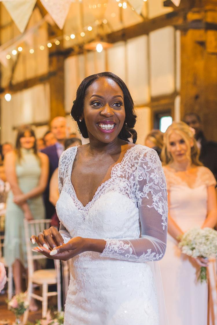 Bride Bridal Maggie Sottero Lace Long Sleeve Sweetheart Whimsical Romantic Barn Wedding http://kirstymackenziephotography.co.uk/