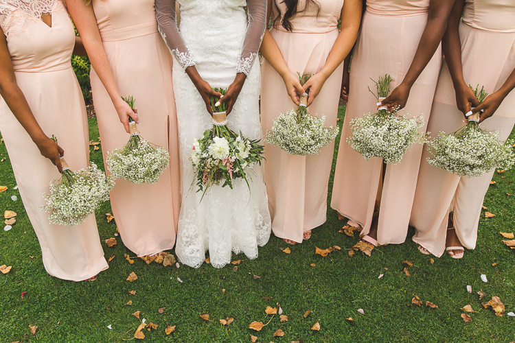 Bride Bridal Gown Dress Bouquet Gypsophila Blush Pink Whimsical Romantic Barn Wedding http://kirstymackenziephotography.co.uk/