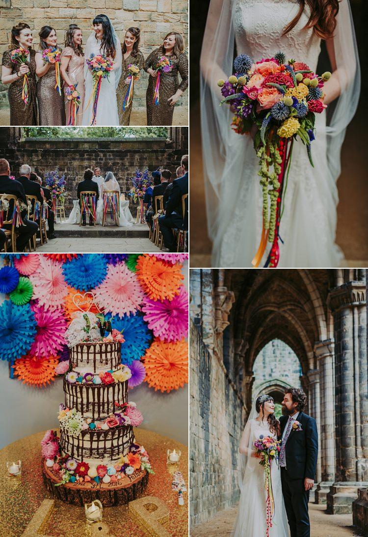 Colourful Dinosaur Wedding Real Wedding Ideas Inspiration Trends 2017 2018 http://bloomweddings.co.uk/