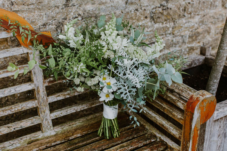 Bouquet Flowers Bride Bridal Greenery Foliage Unconventional Country Cotswolds Barn Wedding http://www.alexandrajane.co.uk/