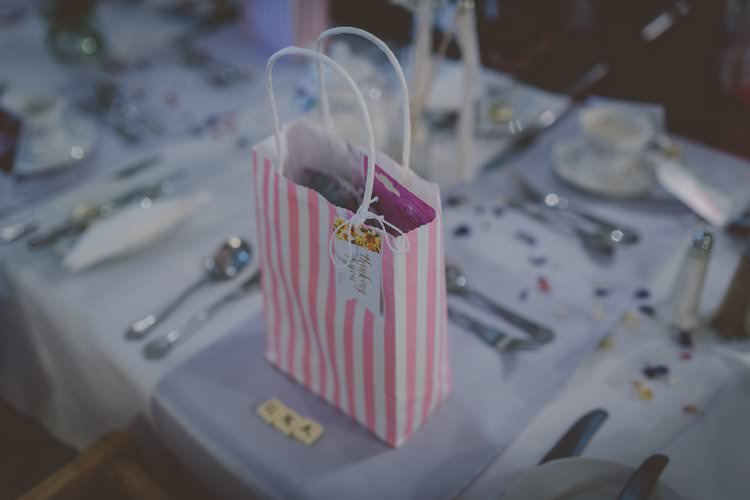 Kids Childs Bag Favours Quirky Afternoon Tea Wedding http://laurarhianphotography.co.uk/