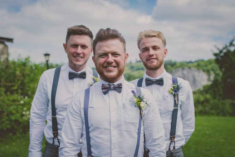 Bow Tie Braces Groom Groomsmen Quirky Afternoon Tea Wedding http://laurarhianphotography.co.uk/