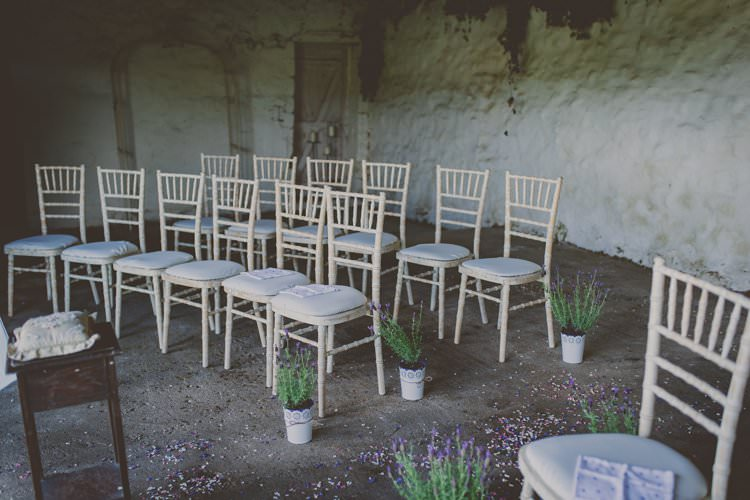 Potted Lavender Aisle Decor Ceremony Quirky Afternoon Tea Wedding http://laurarhianphotography.co.uk/