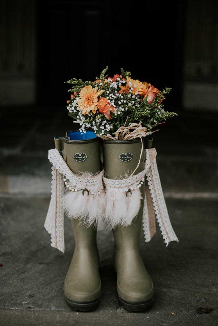 Wellies Wellington Boots Bride Bridal Rustic Peaky Blinders Vineyard Wedding Yorkshire https://www.kazooieloki.co.uk/