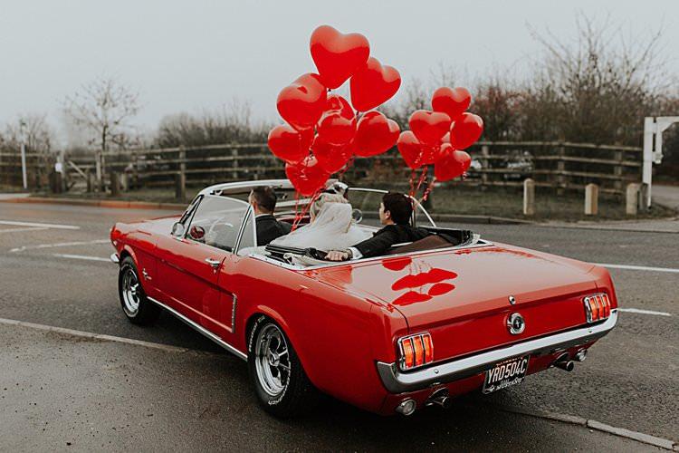 Classic Car Traditional Christmas Wedding Red Festive https://lolarosephotography.com/