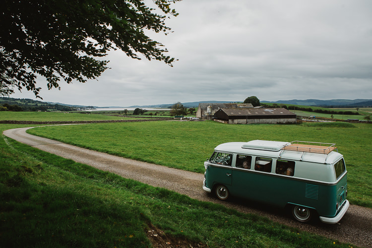 VW Camper Van Colourful DIY Floral Luxe Barn Wedding http://www.joemather-photography.co.uk/