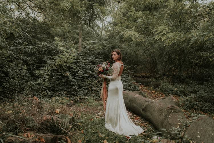 Vintage Dress Gown Sillk Lace Bride Bridal Autumn Hygge Wedding Ideas http://meganelle.co.uk/