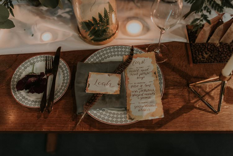 Tablescape Table Decor Decoration Candles Flowers Red Greenery Place Setting Autumn Hygge Wedding Ideas http://meganelle.co.uk/