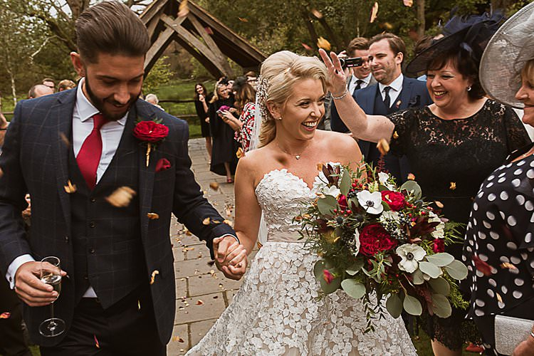 Confetti Beautiful Vibrant Dark Red Autumn Wedding http://thespringles.com/