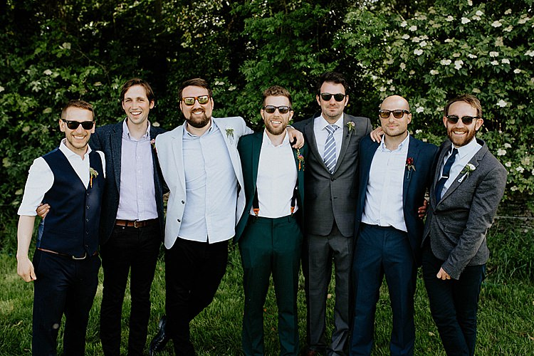 Groom Groomsmen Mismatched Suits Mega Laid Back Festival Party Wedding http://www.jessicawilliams.photography/