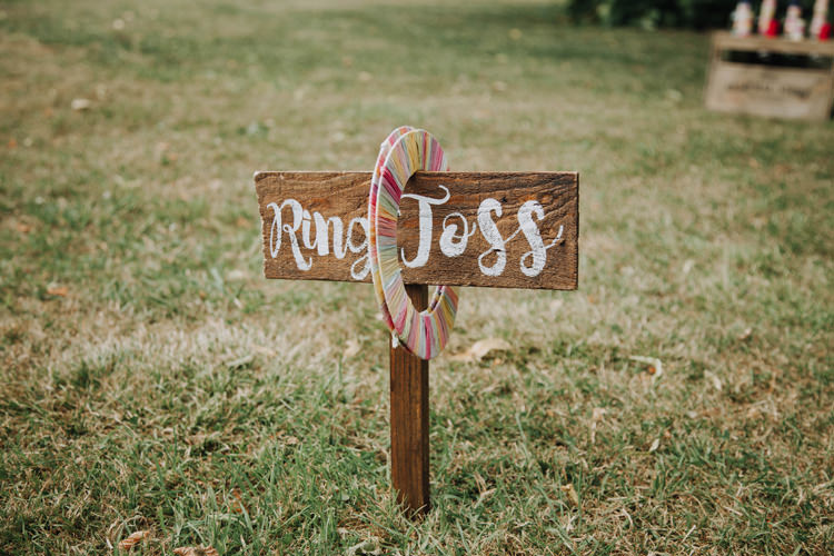 Ring Toss Fete Game Orange Country Barn Wedding http://www.meganduffield.com/