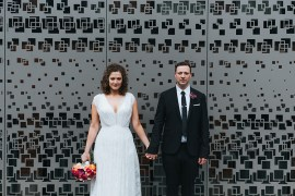 Modern Artistic Colour Pop City Wedding http://missgen.com/