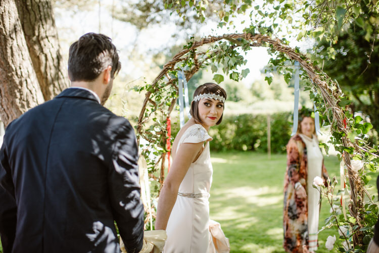 Hazel Arch Backdrop Vegan Handfasting Summer Garden Party Wedding https://www.elliegillard.co.uk/