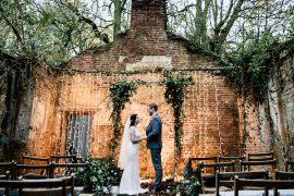 Magical Fairy Lit Blue Gold Winter Wedding Ideas https://sarahbrookesphotography.com/