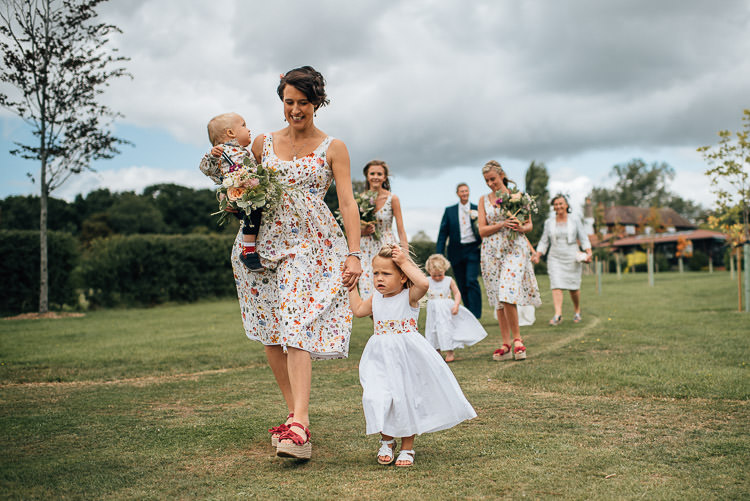 Floral Bridesmaid Dresses Liberty Print Festival Bohemian Glamping Wedding https://theshannons.photography/
