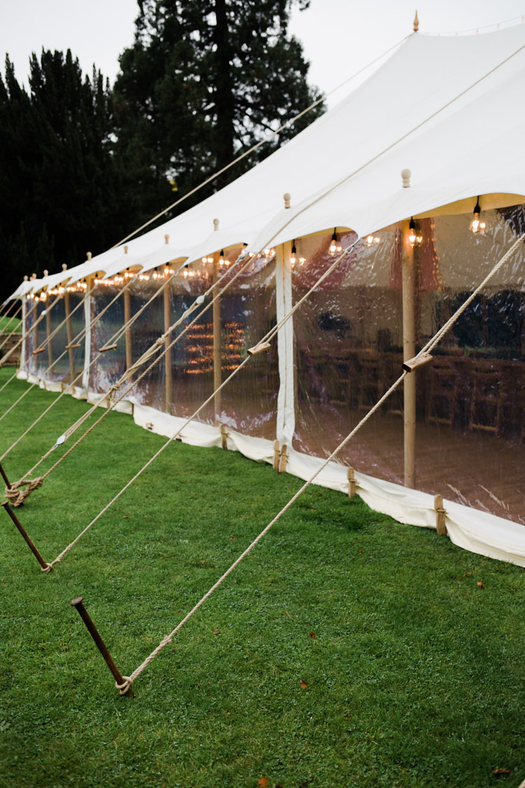 Pole Tent Clear Sides Festoon Lights Outdoorsy Late Summer Marquee Wedding Ideas http://www.esmefletcher.com/