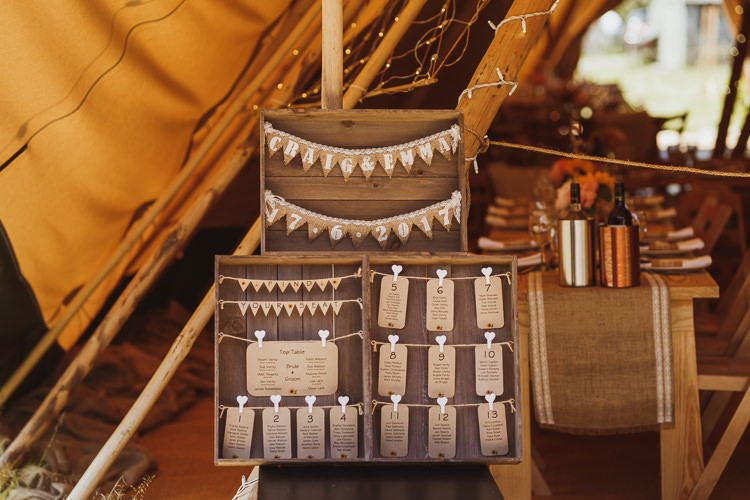 Apple Fruit Crate Table Plan Luggage Tag Hessian Bunting Hanging Seating Chart Rural Clifftop Tipi Wedding https://www.njphotographic.co.uk/