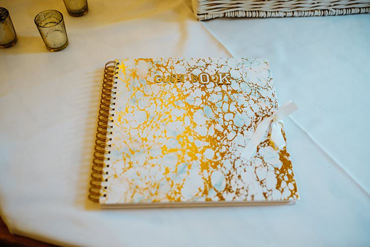 Gold Guest Book Stylish Country House Rave Wedding http://www.mariannechua.com/
