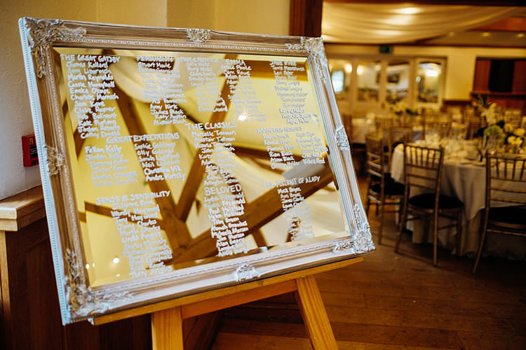 Frame Mirror Seating Plan Table Chart Stylish Country House Rave Wedding http://www.mariannechua.com/