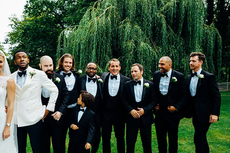 Tuxedos Suits Bow Tie Formal Groomsmen Groom Best Man Stylish Country House Rave Wedding http://www.mariannechua.com/