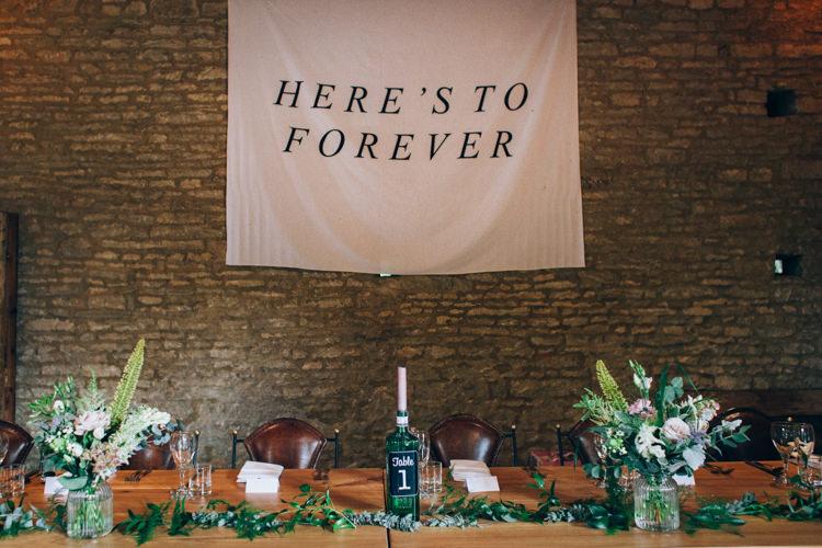 Banner Tapestry Sign Backdrop Top Table Decor Flowery Bohemian Secret Garden Wedding https://caseyavenue.co.uk/