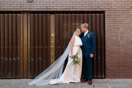 Modern Tropical Gold Urban Wedding https://www.christinewehrmeier.com/