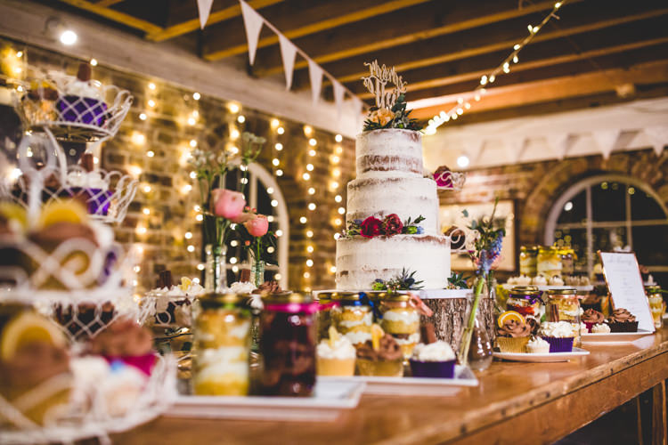 Cake Dessert Table Buttercream Tiered Pudding Colourful Fun Cosy Rainy Sea Wedding http://www.livvy-hukins.co.uk/