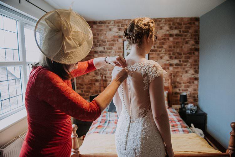 Illusion Back Lace Dress Gown Bride Bridal Twinkly Rustic Winter Wonderland Wedding https://www.kazooieloki.co.uk/