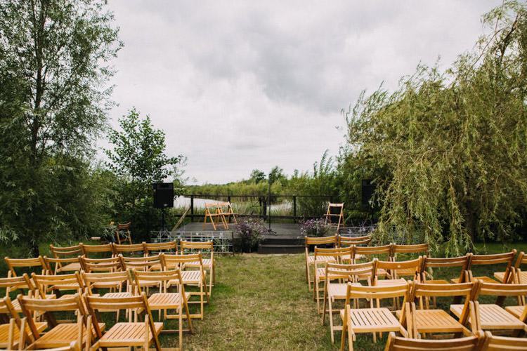 Outdoor Ceremony Joyful Homespun Humanist Farm Camping Wedding https://aniaames.co.uk/